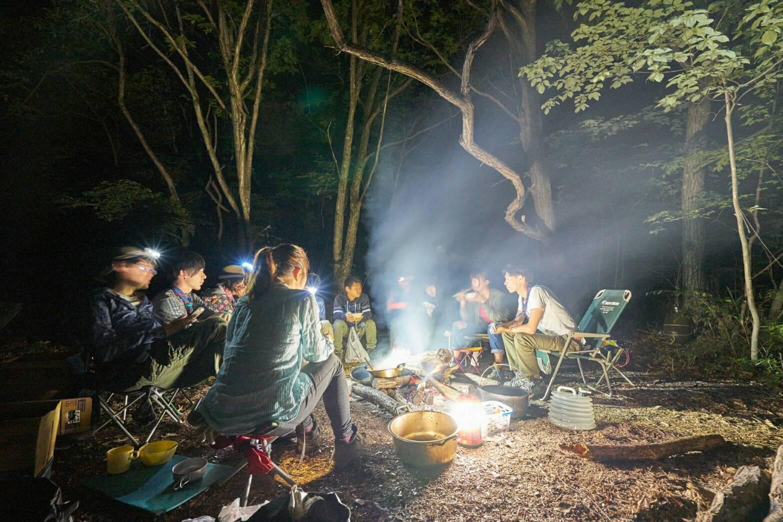 新歓キャンプ2017 夜